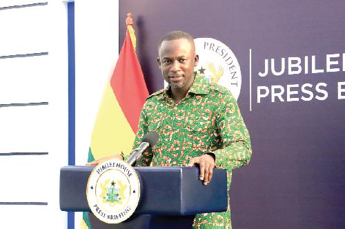 Director of Communications at the Presidency — Mr Eugene Arhin